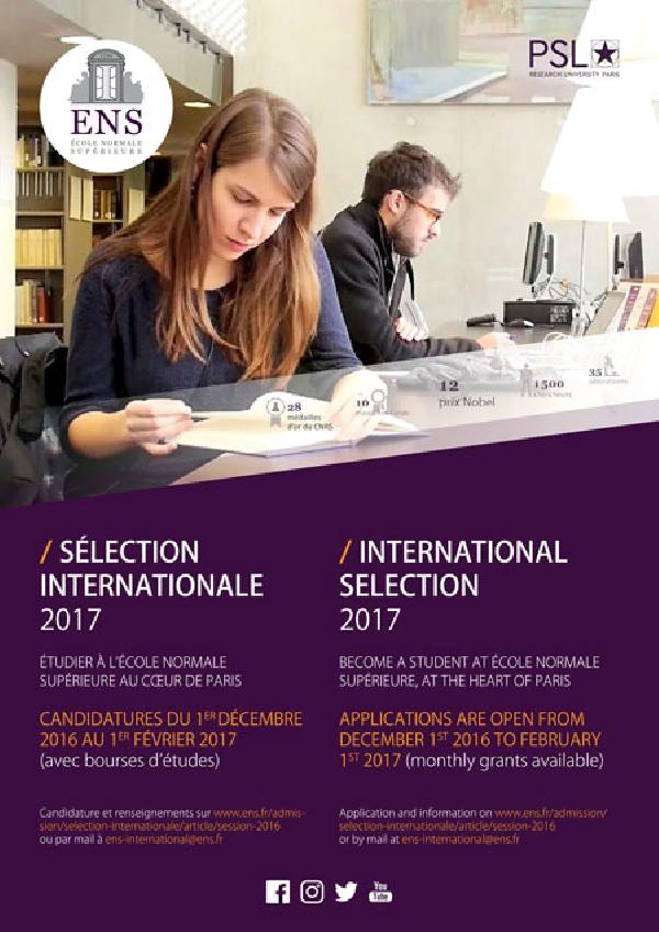 Francia: Becas para Maestría en Ciencias, Artes y Humanidades École Normale Supérieure