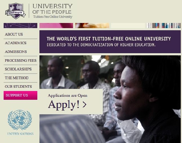 Online: Becas para Pregrado en Varios Temas  University of People