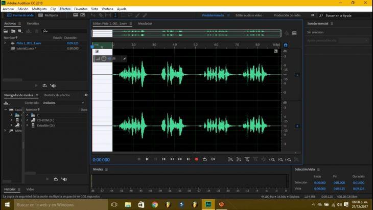 Edición de Audio con Adobe Audition CC